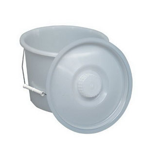 Briggs Pail with Lid and Wire Handles, 12 qt 641210