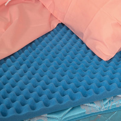 Convoluted (Eggcrate) Bed Pad, Queen, 56 X 78 X 2 6455279480052