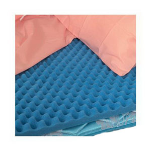 "Convoluted Eggcrate Full Bed Pad, 50"" X 72"" X 2"" 647948"
