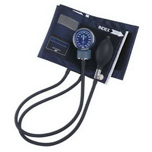 Adult Signature Aneroid Sphygmomanometers with Blue Nylon Cuff 6601100011