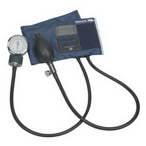 MABIS CALIBER Aneroid Sphygmomanometer with Blue Nylon Child Cuff 6601130015