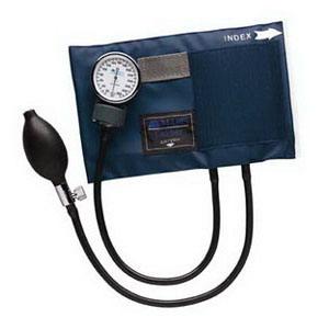 Adult CALIBER Aneroid Sphygmomanometers with Blue Nylon Cuff 6601130016