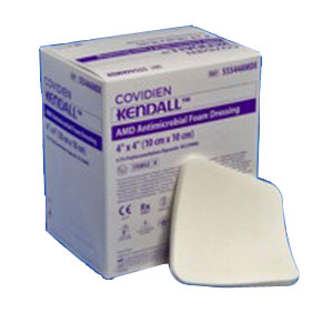 "Kendall AMD Antimicrobial Polyurethane Foam Dressing 2"" x 2"" 6855522AMD"