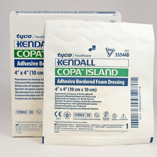 "Kendall Copa™ Ultra-Soft Hydrophilic Foam Dressing, Latex-Free, 4"" x 4""  6855544"