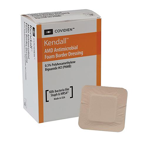 """AMD Antimicrobial Foam Border Dressing, 3-1/2"""" x 5-1/2"""" 6855546BAMD"""