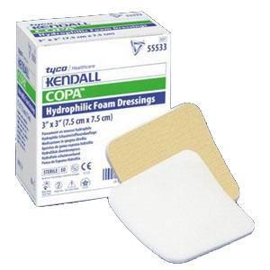 "Kendall Copa™ Ultra-Soft Hydrophilic Foam Dressing, 8"" x 8""  6855588"