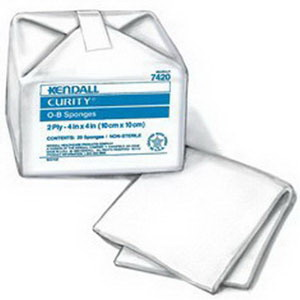 """Curity™ Non Sterile O-B Sponge 4"""" x 4""""  687053"""