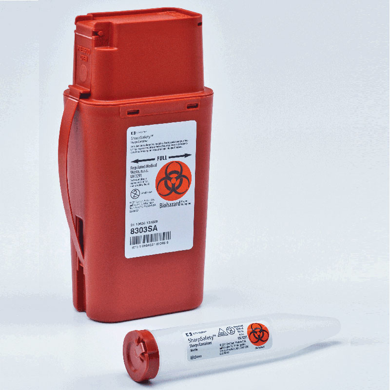 Kendall Transportable Sharps Container 1 Quart Red 688303SA