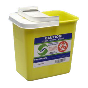 """Kendall Healthcare SharpSafety™ Sharps Container with Hinged Lid 8 gal, 17-3/4"""" H x 15-1/2"""" W x 11"""" D 688980"""