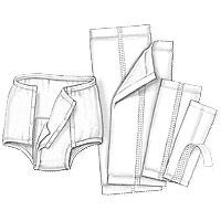 "Kendall Handicare™ Garment Liner, Light Absorbency, Super-Absorbent Polymer 6-1/2"" x 17"" 68965B20"