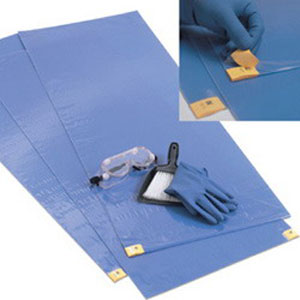 "Kendall ChemoPlus™ Adhesive Contamination Control Floor Mat, Blue, 18"" x 46""  68CT0071"