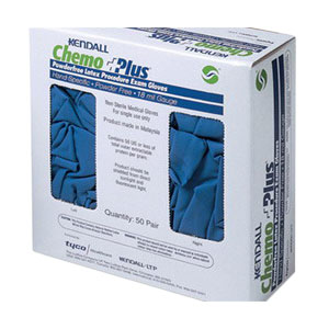 ChemoPlus Latex Gloves Large, Blue 68CT01931S