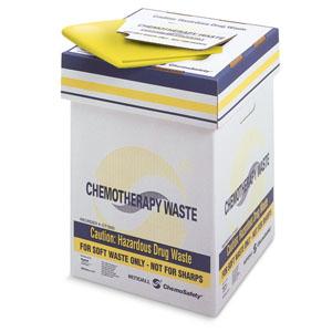 ChemoPlus Chemo Soft Waste Corrugated Container 20 Gallon, Yellow 68CT2100