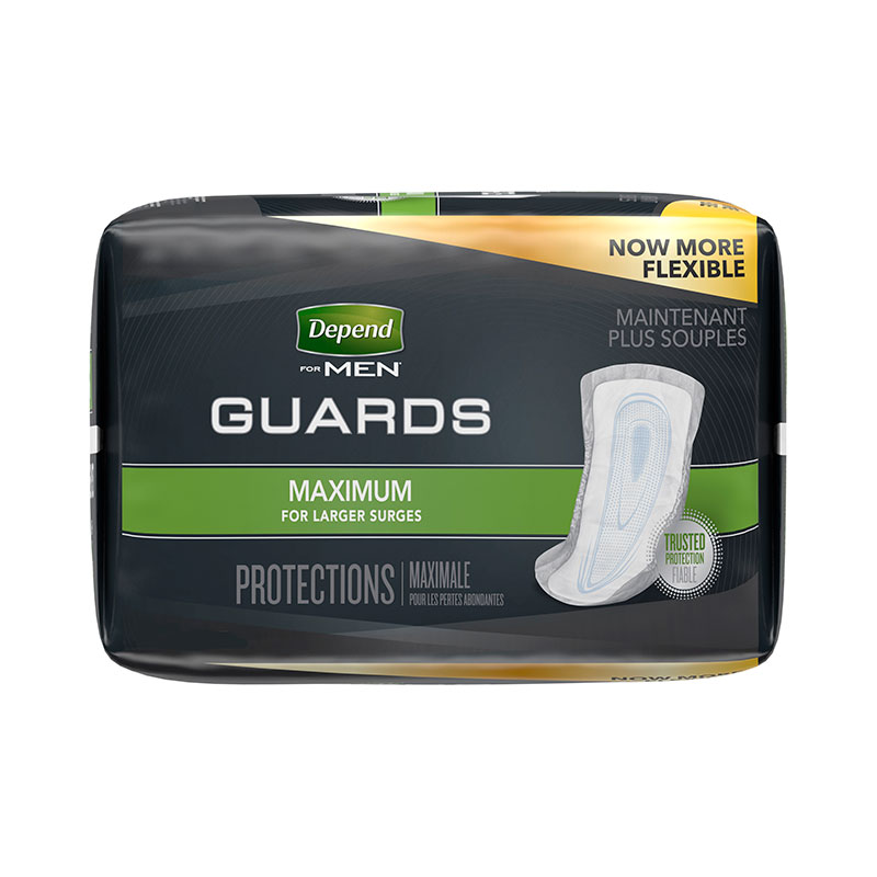 """Kimberly Clark Depend® Guard for Men, Adhesive Strips, Maximum Absorbency, 12-1/8"""" 6913792"""
