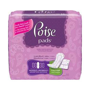 "Poise Pads Moderate Absorbency Long Pads 12.4"" 6919566"