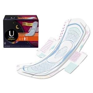 U by Kotex Super Premium Overnight Pads with Wings, Maximum Absorbency 6946595