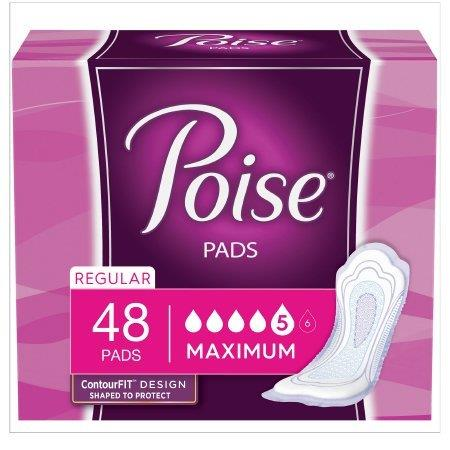 """Depend Poise UltraWidth Side Shields, Maximum, Super-absorbent, Discreet and portable, 12.20"""" Long 6947199"""