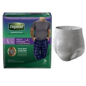 Depend Night Defense Underwear for Men, Large 6951125