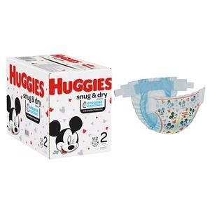Huggies Snug and Dry Diapers, Size 2, Giga Pack, 112 Ct 6951531