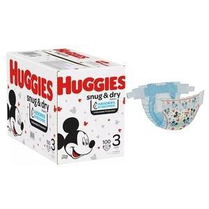 Huggies Snug and Dry Diapers, Size 3, Giga Pack, 100 Ct 6951532