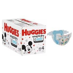 Huggies Snug and Dry Diapers Size 4, Giga Pack, 88 Ct 6951533