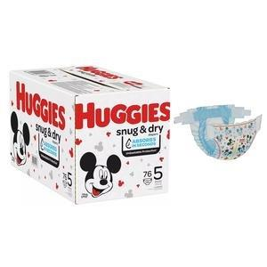 Huggies Snug and Dry Diapers, Size 5, Giga Pack, 76 Ct 6951534