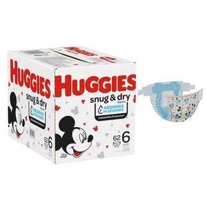 Huggies Snug and Dry Diapers, Size 6, Giga Pack, 62 Ct 6951535
