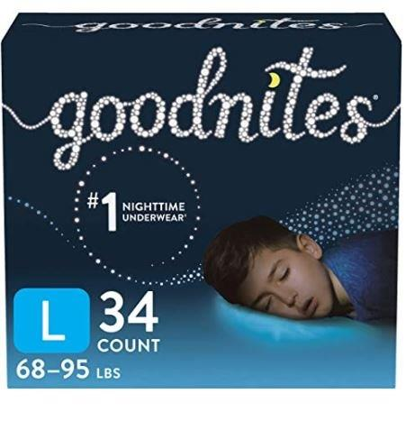 Goodnites Youth Pants for Boys, Large, Giga Pack, Replaces Item 6940533 6953359