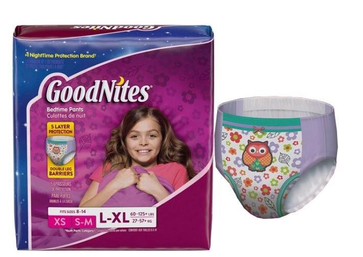 Goodnites Youth Pants for Girls, X-Large, Giga Pack, Replaces Item 6940534 6953379