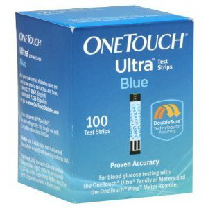OneTouch® Ultra® Blue Blood Glucose Test Strip with DoubleSure™ Technology 70020244