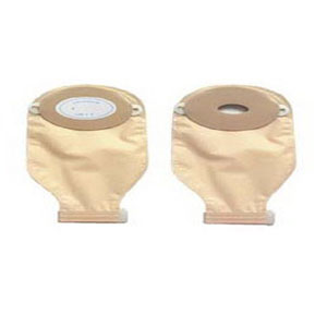 "Nu-Hope One-Piece Post-Op Trim-to-Fit Convex Adult Drainable Pouch with Nu-Comfort™ Barrier and Closure Clamp 1-3/16"" x 2-1/4"" Inside Cutting Area Oval C, 3-1/4"" x 4-5/8"" OD, 11"" L x 5-3/4"" W, Clear, 1/2"" Starter Hole, 24 oz 79407254C"
