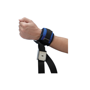 "Posey Twice-as-Tough™ Cuff Locking Wrist 46"" L Strap, Neoprene, 12"" L x 2-1/2"" W Cuff 822798"