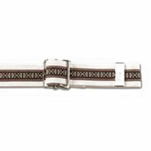"Posey Company Gait Belt, Xlong 72"" Embroidered Ribbon Bariatric Up to 71"", Nickel-Plated, Metal Buckles 826529L"