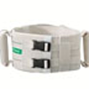 "Posey Company Posey Ergonomic Walking Belt Large 48"" L x 5"" W, Heavy-duty White Cotton, Secure Grip 826534L"