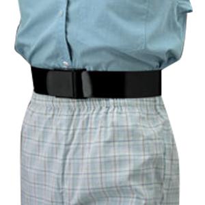 """Posey Company E-Z Clean Gait Belt 60"""" L x 2"""" W, Standard Black, Webbing Wipes 826545"""