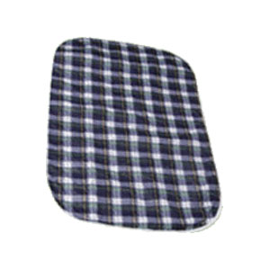 "Salk Company CareFor™ Deluxe Designer Print Reusable Underpad 32"" x 36"", Green Plaid Printed Top Sheet, Latex-free 841964GP"