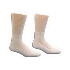 HealthDri Acrylic Diabetic Sock Size 10 - 13, White 8437551PK