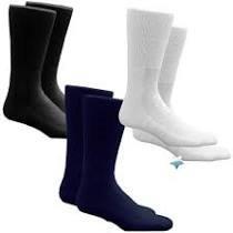 HealthDri Acrylic Diabetic Sock Size 13 - 15, Black 8439552011PK
