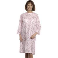 Snapwrap Adult Patient Gown,Pink Rosebuds, Each 84500LPP