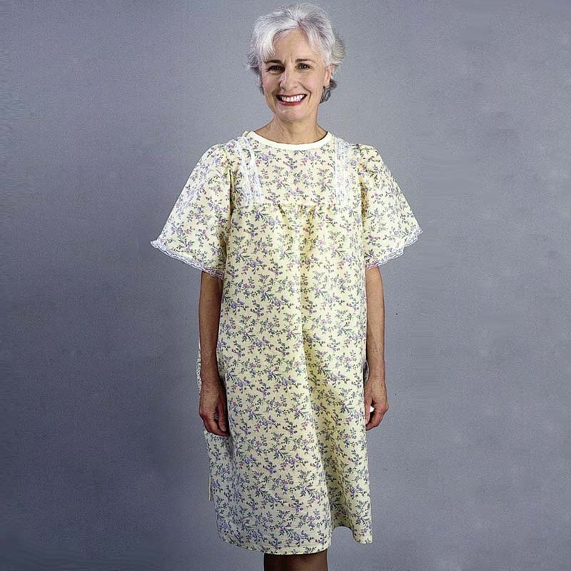 Snapwrap Deluxe Adult Gown, Yellow Floral 84500LPY