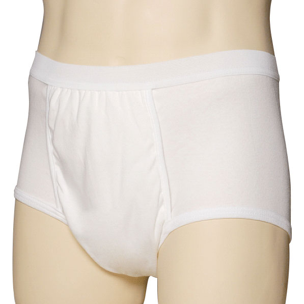 "Light & Dry One Piece Men's Brief, Medium, 34"""" - 36"""" Waist 8467800M"