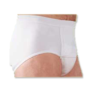 "Salk Company HealthDri™ Men's Moderate Reusable Cotton Briefs Extra-Large, 42"" to 44"" Waist, Washable, Latex-free 84BM0XL"