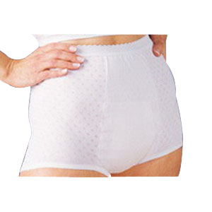 "Salk Company HealthDri™ Ladies Heavy Panties Size 6, 26"" to 28"" Waist, Washable, Latex-free 84PHC006"