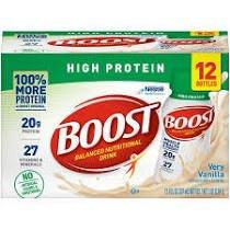 Boost High Protein Nutritional Energy Drink 8 oz., Very Vanilla 8509413600