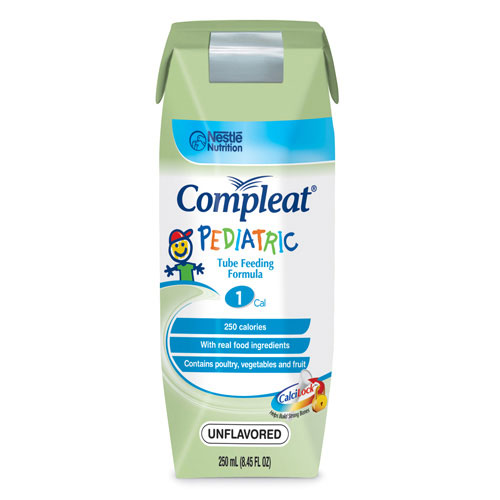 Nestle Healthcare Nutrition Compleat® Pediatric Modified Tube Feeding Unflavored Food 250ml Can, 250kCal, Lactose-free, Gluten-free 85142400