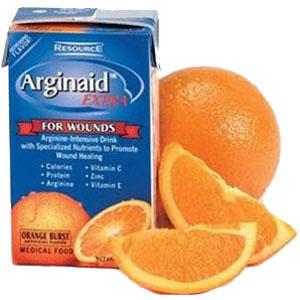 Resource Arginaid Extra Arginine-intensive Orange Burst Flavor 8 oz. Brik Pak 85196600
