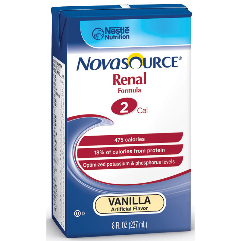Novasource Renal Nutritional Support Vanilla Flavor Liquid 8 oz. Brik Pak 85351100
