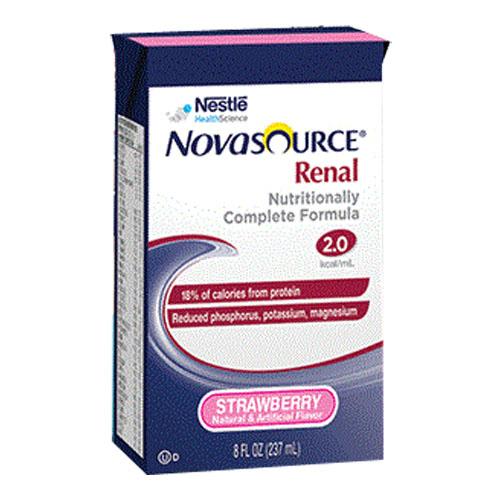 Novasource Renal, Strawberry Flavor, 8 fl. oz. Tetra Brik 854390064051