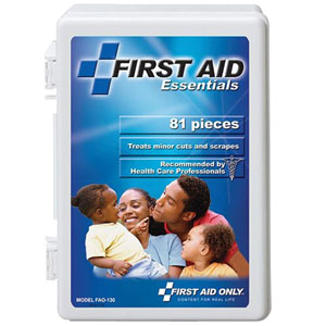 All Purpose First Aid Kit, 81 Pieces - Medium 86FAO130