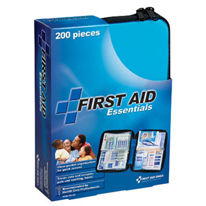 All Purpose First Aid Kit, Softsided, 200 Pieces - Medium 86FAO432